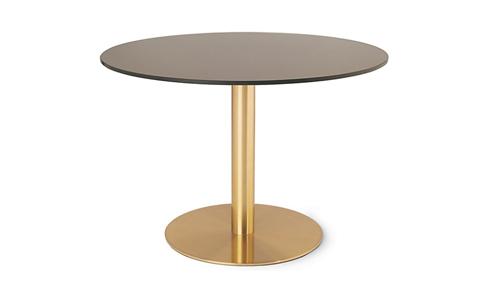 bàn inox tròn si vàng 7