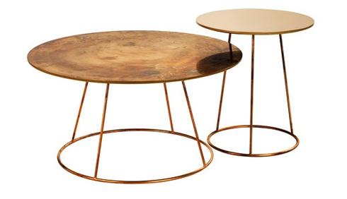 bàn tròn inox si vàng 6