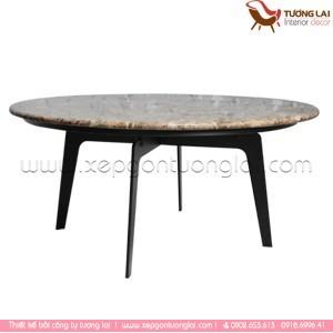 Gia công chân bàn sắt la mặt đá tròn