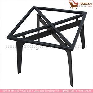 Gia công sắt - inox Bàn sofa chân sắt mặt đá Vuông
