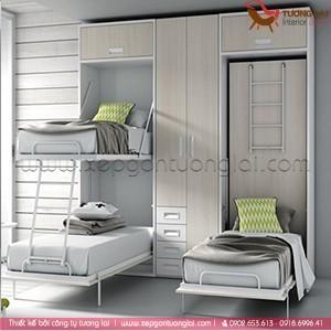 Giường đôi 2 tầng gấp gọn thông minh