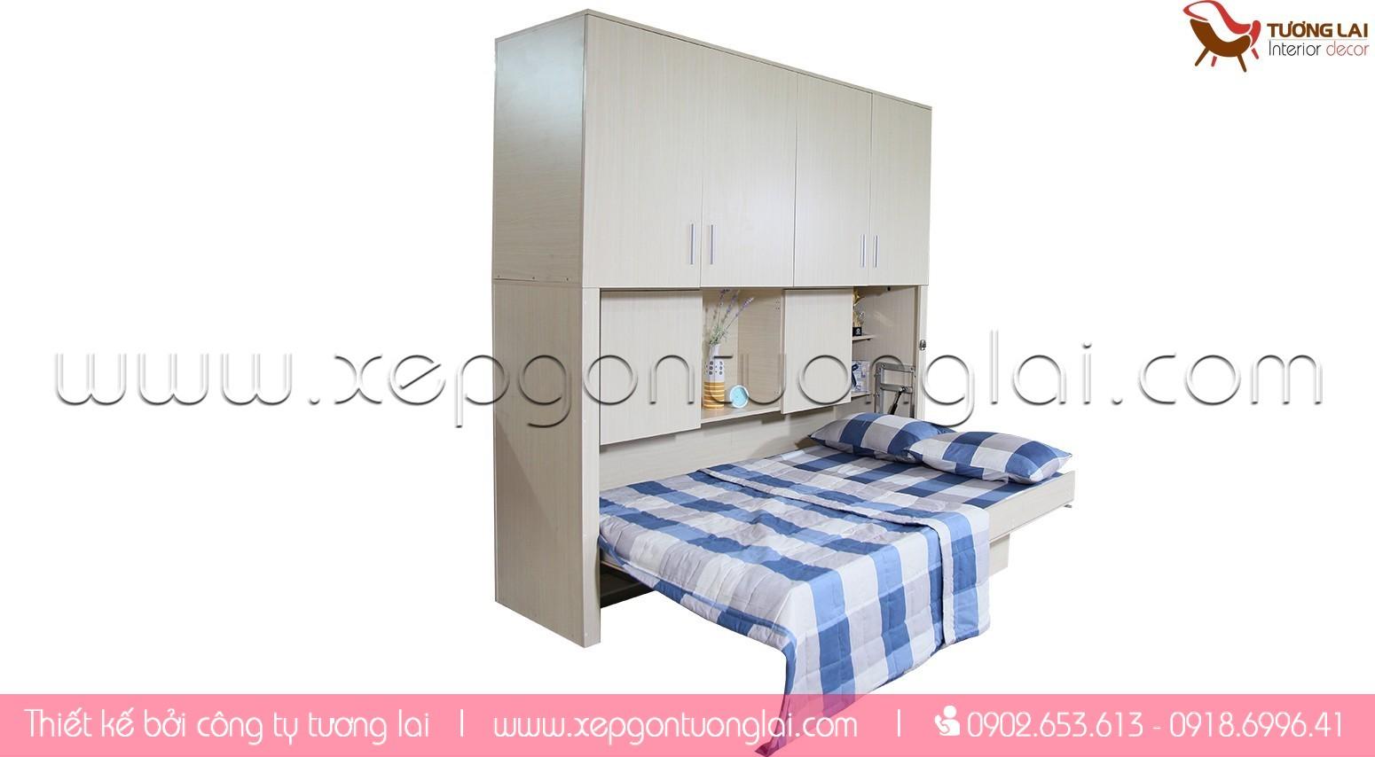 Giường xếp gọn- giường gấp gọn-giường thông minh
