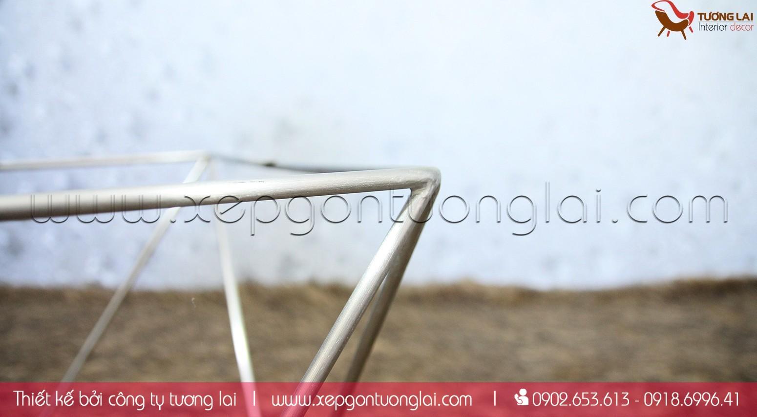 Gia công inox- bàn sofa chân inox kiểu
